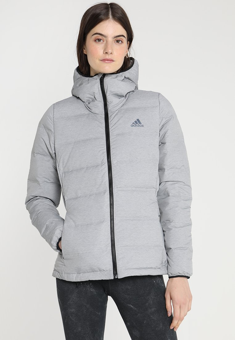 adidas Performance - HELIONIC - Down jacket - medium grey heather