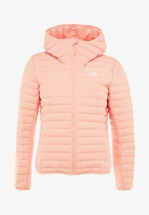 VARILITY SOFT HOODED OUTDOOR DOWN JACKET - Chaqueta de invierno - glow pink