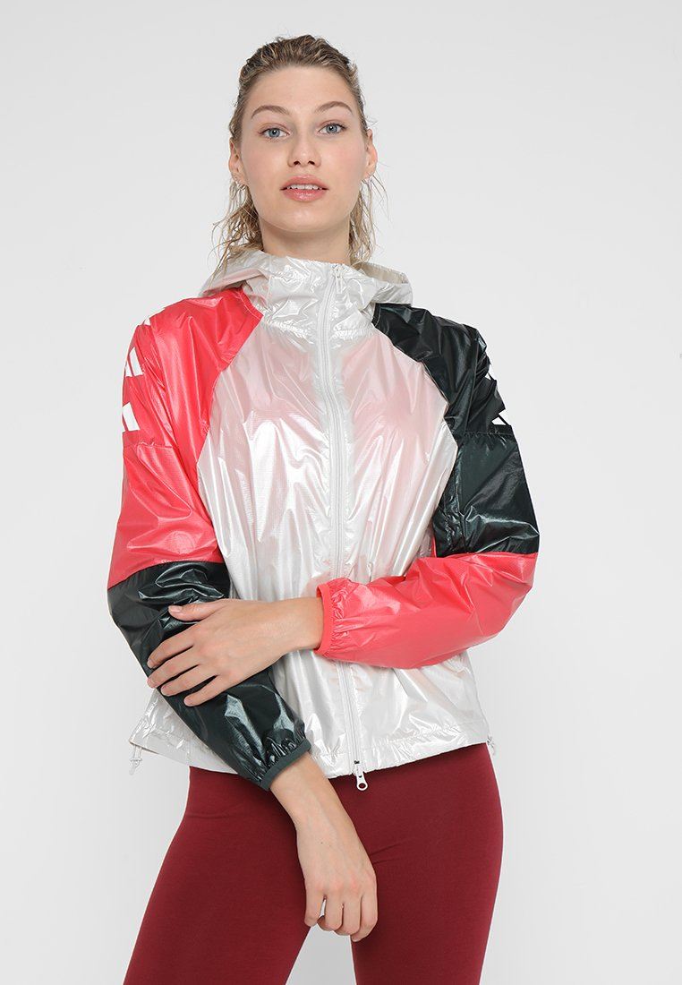 adidas Performance - Windbreaker - raw white/legend ivy/prism pink