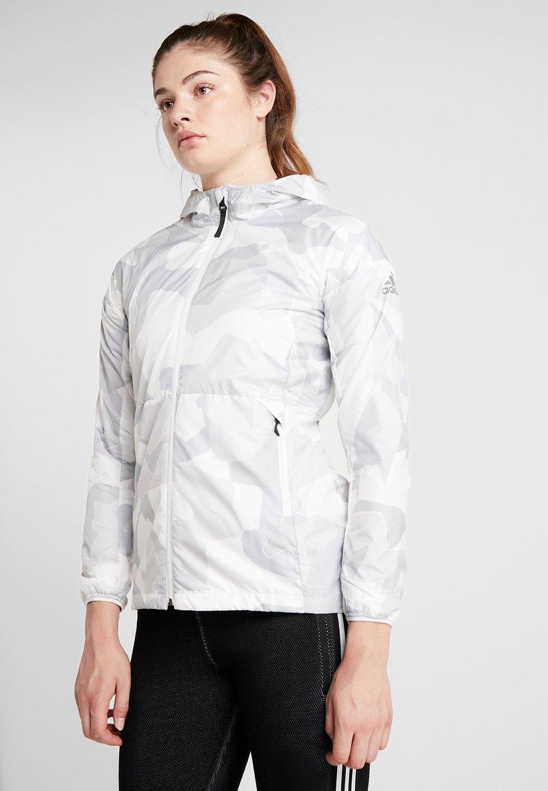 adidas Performance - CAMO LINING WINDBREAKER - Windbreaker - white/light grey
