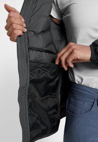 adidas Performance - VARILITE 3-STRIPES SOFT HOODED DOWN JACKET - Winter jacket - carbon - 3
