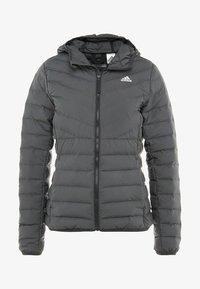 adidas Performance - VARILITE 3-STRIPES SOFT HOODED DOWN JACKET - Winter jacket - carbon - 4
