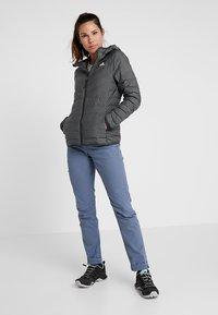 adidas Performance - VARILITE 3-STRIPES SOFT HOODED DOWN JACKET - Winter jacket - carbon - 1