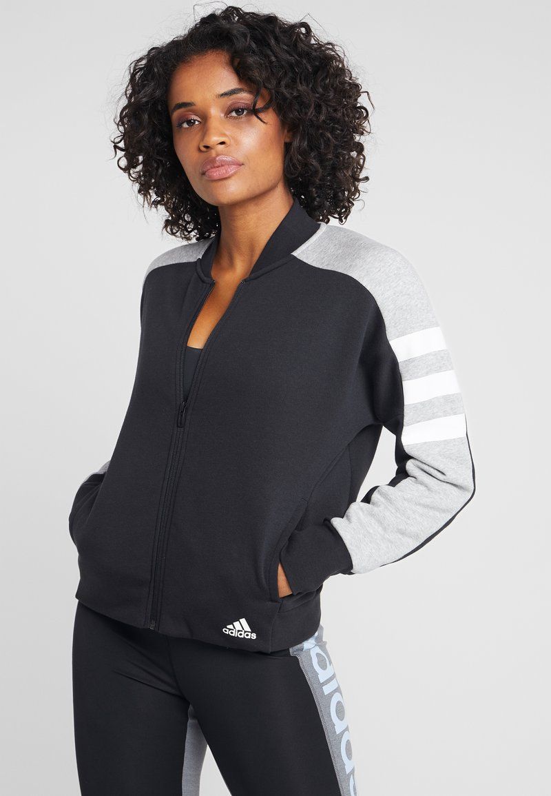 adidas Performance - SID JACKET - Hoodie met rits - black/medium grey heather