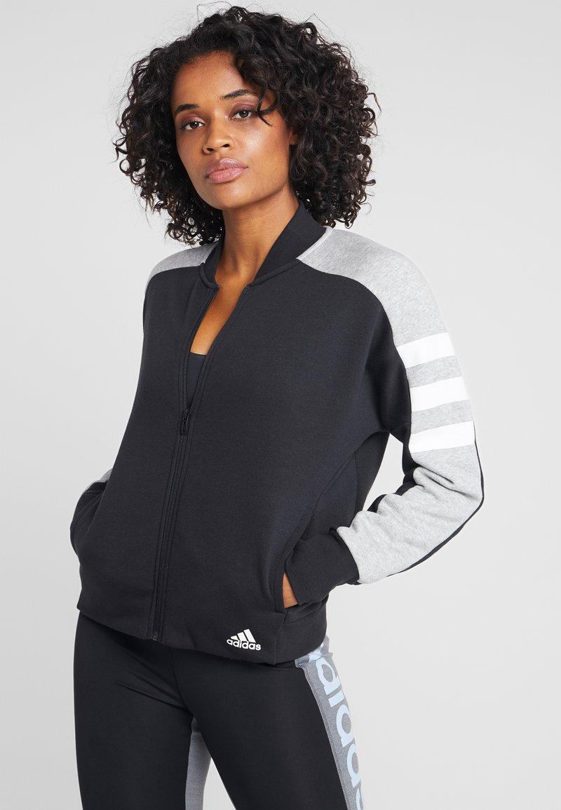 adidas Performance - SID JACKET - Zip-up hoodie - black/medium grey heather
