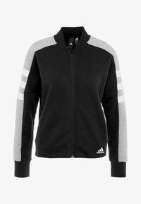 adidas Performance - SID JACKET - Hoodie met rits - black/medium grey heather - 4