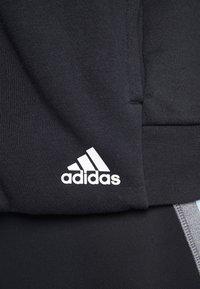 adidas Performance - SID JACKET - Hoodie met rits - black/medium grey heather - 3