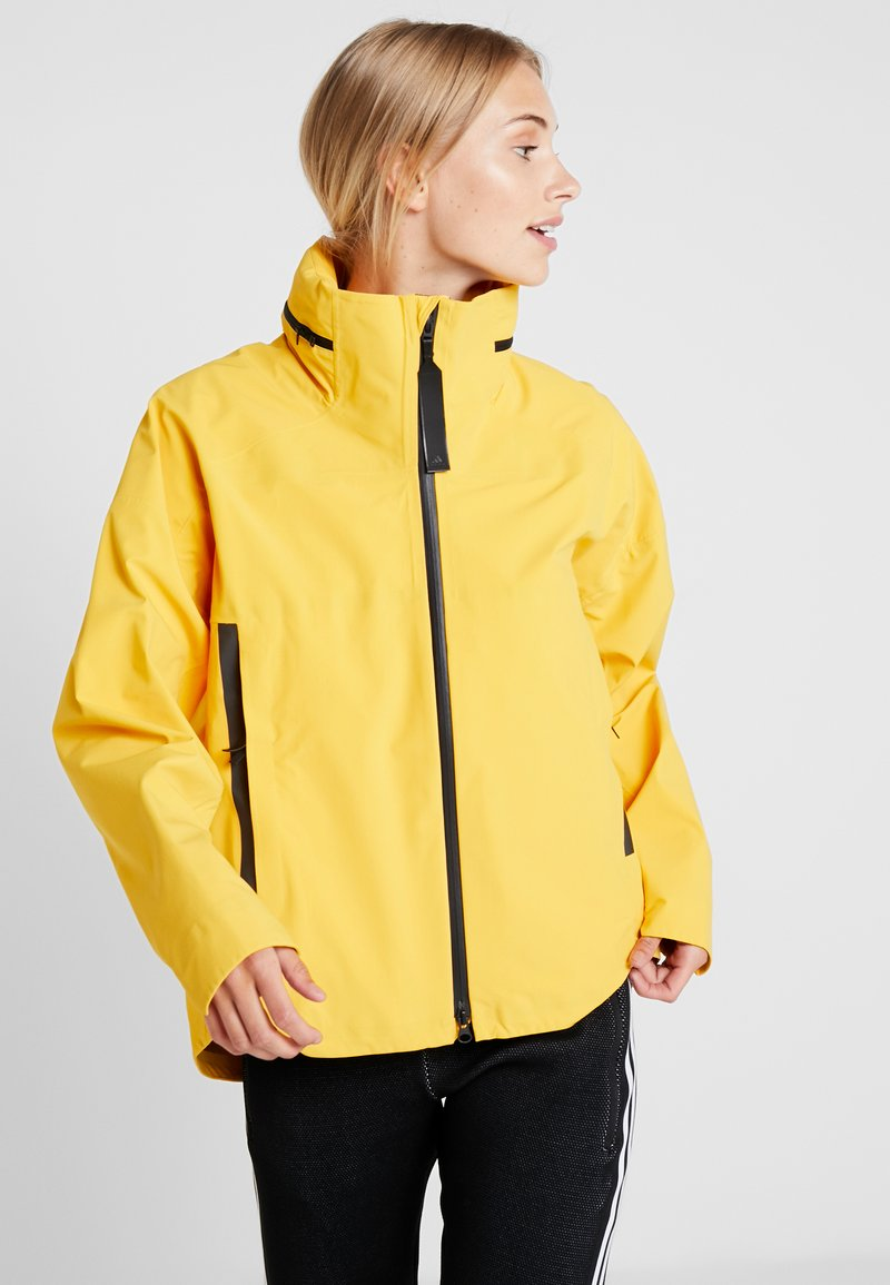 adidas Performance - MYSHELTER RAIN JACKET - Sadetakki - yellow
