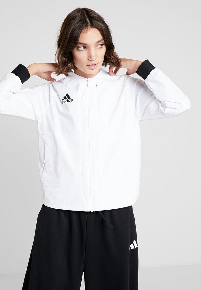 BOMBER  - Training jacket - white/black