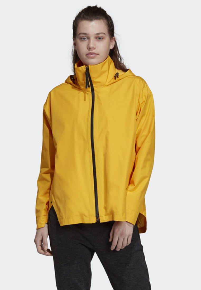 adidas Performance - URBAN CLIMAPROOF RAIN JACKET - Regnjakke - yellow