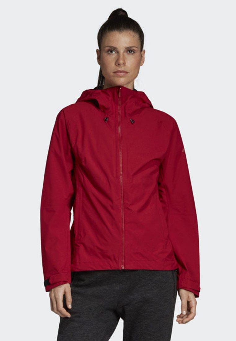 adidas Performance - SWIFT RAIN JACKET - Waterproof jacket - red