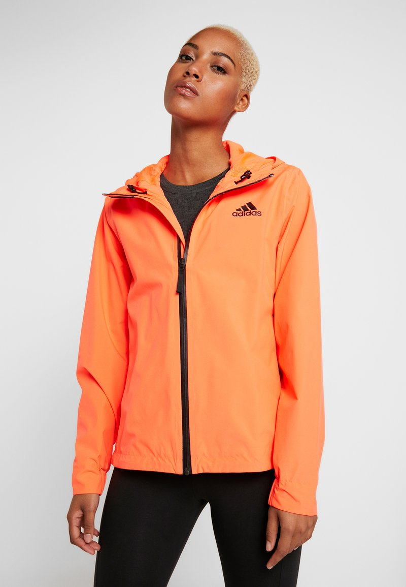 adidas Performance - BSC 3-STRIPES RAIN.RDY - Waterproof jacket - coral