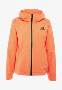 adidas Performance - BSC 3-STRIPES RAIN.RDY - Waterproof jacket - coral - 4