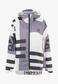 adidas Performance - URBAN ALLOVER PRINT WIND.RDY - Waterproof jacket - white - 3