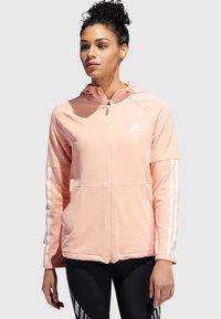"adidas Performance - ADIDAS PERFORMANCE DAMEN SWEATJACKE ""3S FULL ZIP KNIT HOODIE"" - Trainingsvest - light pink - 0"
