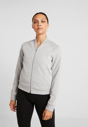Veste de survêtement - medium grey heather/white