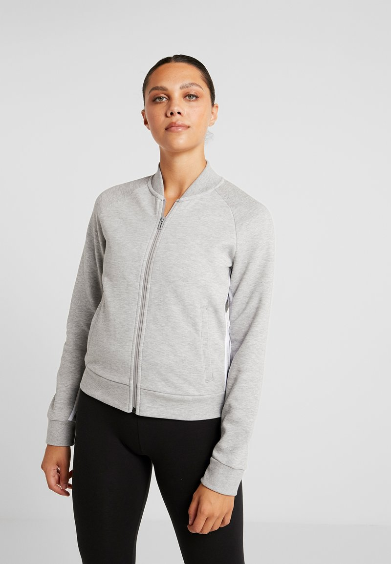 adidas Performance - Training jacket - medium grey heather/white