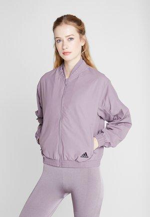 BOMBER - Training jacket - purple