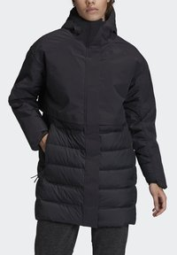 adidas Performance - MYSHELTER CLIMAHEAT PARKA - Down coat - black