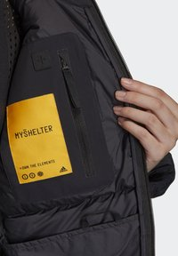 adidas Performance - MYSHELTER CLIMAHEAT PARKA - Down coat - black - 5