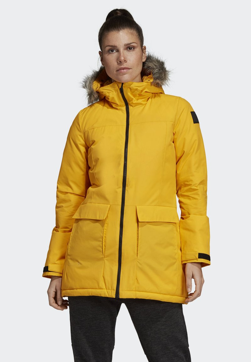 adidas Performance - XPLORIC PARKA - Cappotto invernale - yellow