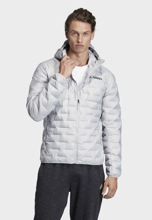 LIGHT DOWN HOODED JACKET - Down jacket - gray