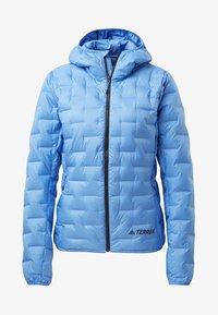 adidas Performance - LIGHT DOWN HOODED JACKET - Down jacket - blue - 6
