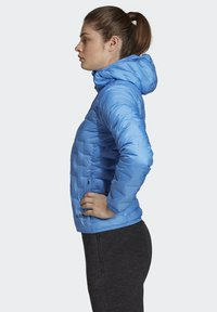 adidas Performance - LIGHT DOWN HOODED JACKET - Down jacket - blue - 2