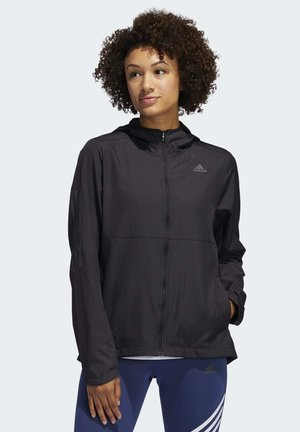 OWN THE RUN HOODED WINDBREAKER - Trainingsvest - black