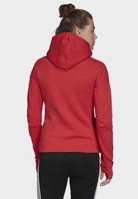 adidas Performance - Hoodie met rits - glory red - 1