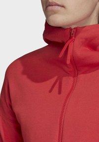 adidas Performance - Hoodie met rits - glory red - 5