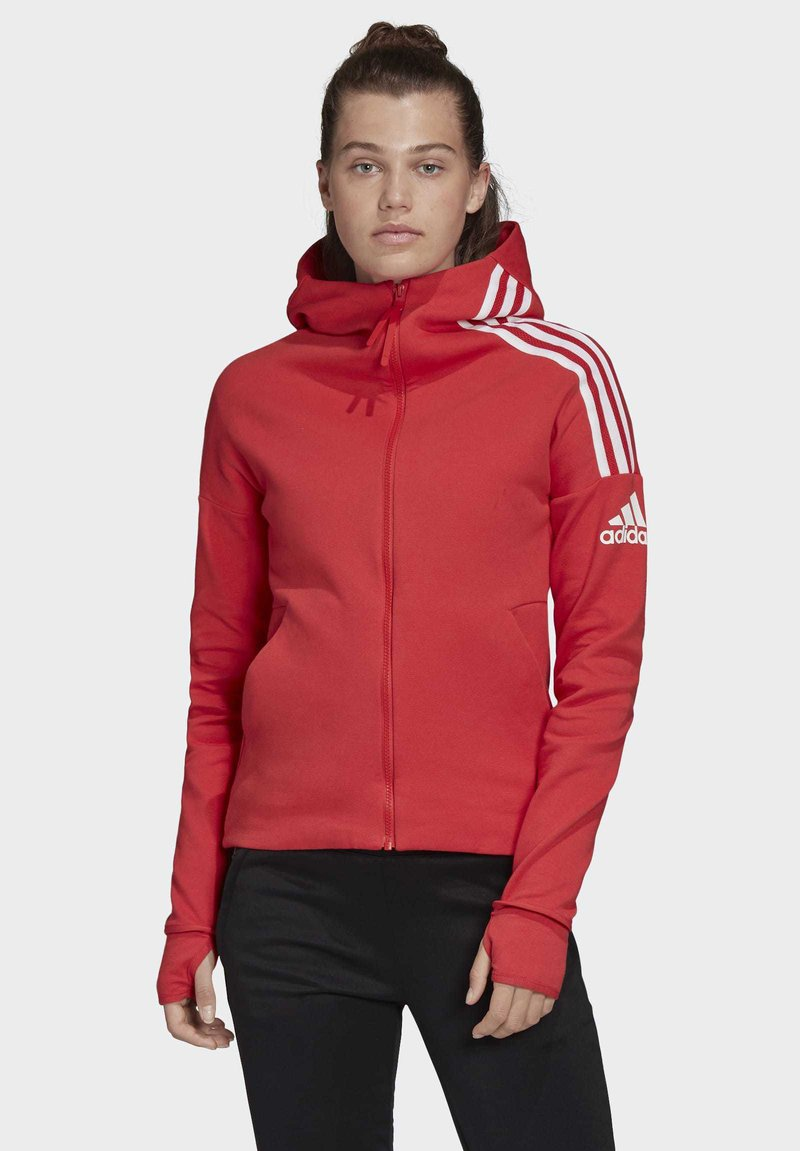 adidas Performance - Hoodie met rits - glory red