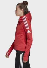 adidas Performance - Zip-up hoodie - glory red - 2