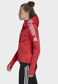 adidas Performance - Hoodie met rits - glory red - 2