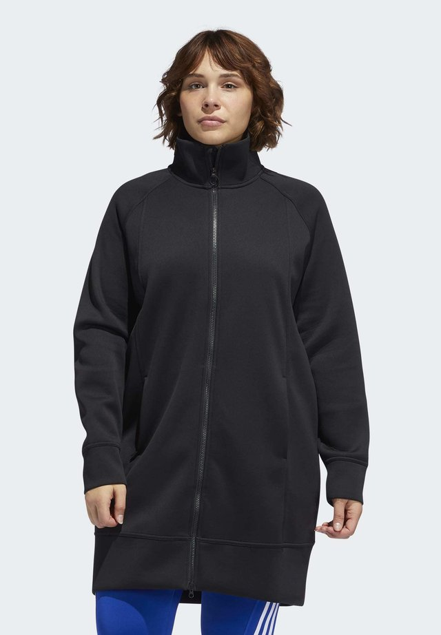LONG TRACK TOP - Winter coat - black