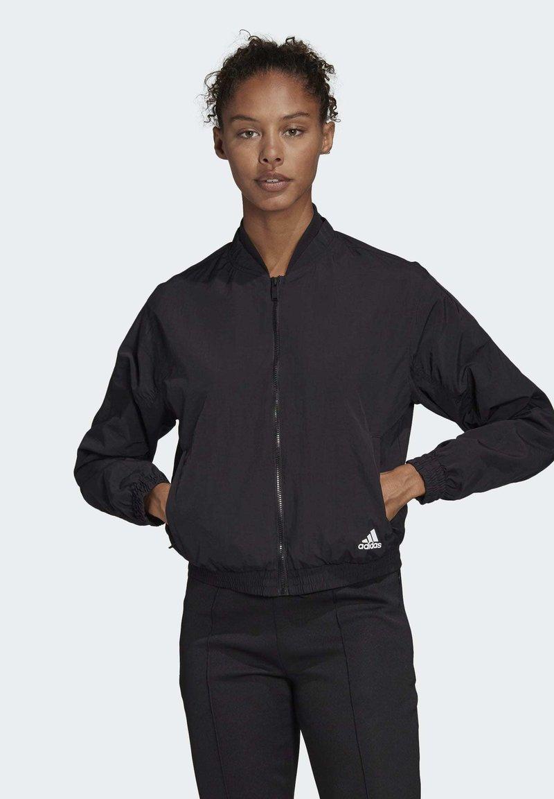 adidas Performance - WOVEN BOMBER JACKET - Training jacket - black