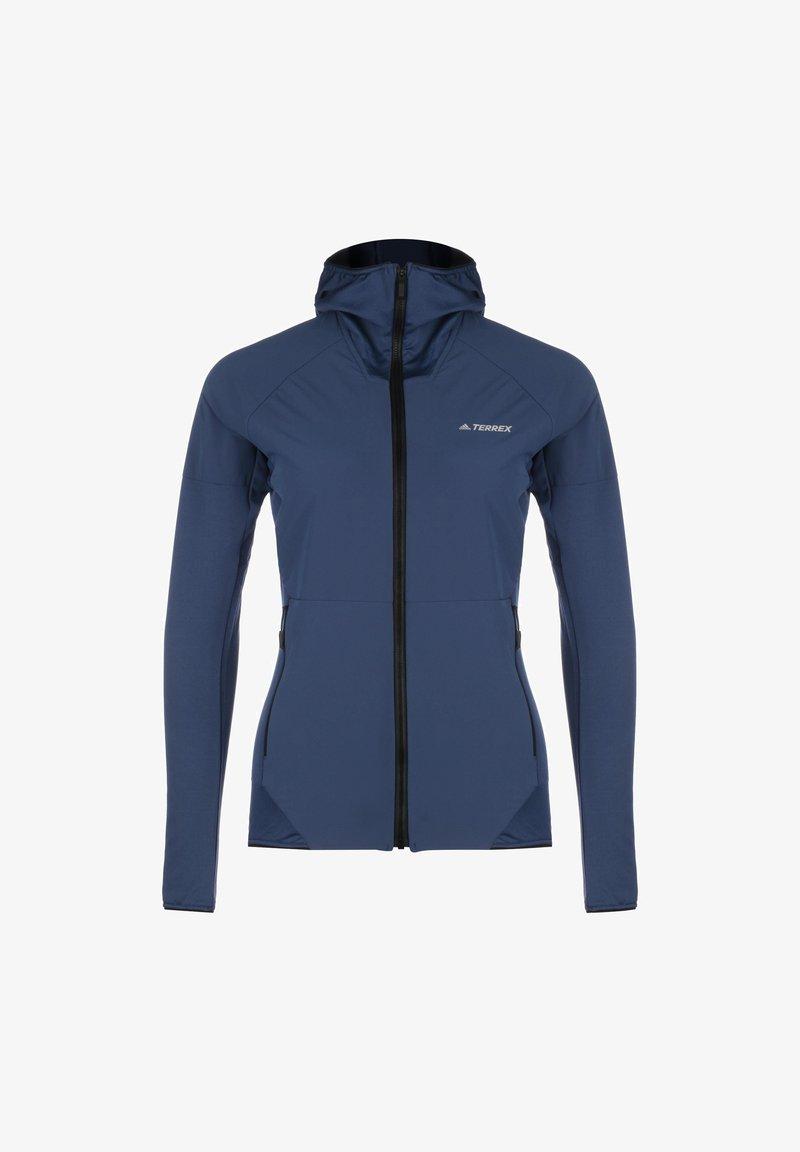 adidas Performance - TERREX SKYCLIMB FLEECEJACKE DAMEN - Fleece jacket - tech indigo