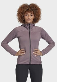 adidas Performance - TRACE ROCKER HOODED FLEECE JACKET - Fleecejakke - purple - 0