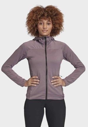 TRACE ROCKER HOODED FLEECE JACKET - Fleece jacket - purple