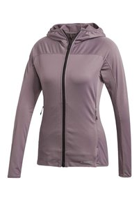 adidas Performance - TRACE ROCKER HOODED FLEECE JACKET - Fleecejakke - purple - 8