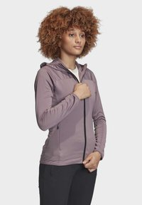 adidas Performance - TRACE ROCKER HOODED FLEECE JACKET - Fleecejakke - purple - 4