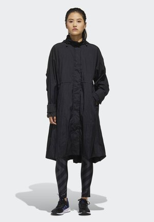 LIGHT WOVEN LONG JACKET - Parkaer - black