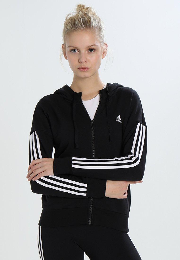 adidas Performance - veste en sweat zippée - black/white