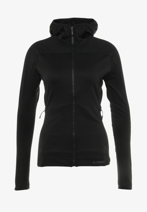TERREX TRACEROCKER HOODED HIKING FLEECE - Fleecová bunda - black