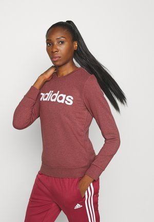 ESSENTIALS SPORT LONG SLEEVE PULLOVER - Bluza - legend red/white