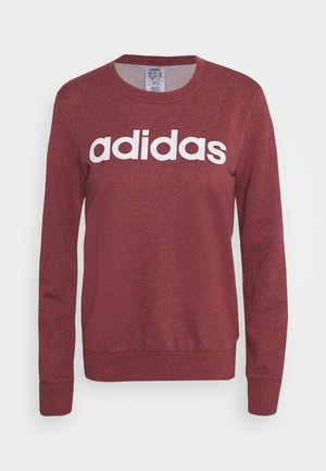 ESSENTIALS SPORT LONG SLEEVE PULLOVER - Sweatshirt - legend red/white