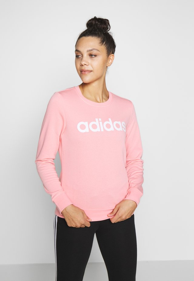 ESSENTIALS SPORT LONG SLEEVE PULLOVER - Sudadera - pink/white
