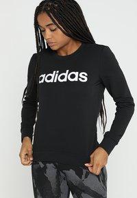 adidas Performance - ESSENTIALS SPORT LONG SLEEVE PULLOVER - Collegepaita - black/white - 0