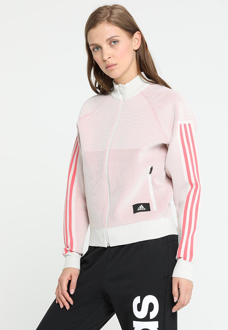 adidas Performance - Sweatjacke - raw white/prism pink