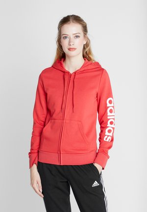 ESSENTIALS SPORT FULL ZIP HODDIE PULLOVER - Bluza rozpinana - glored